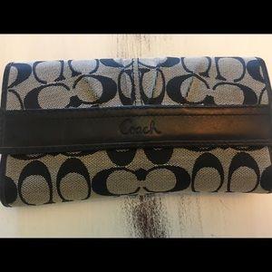 Coach wallet & check book holder set